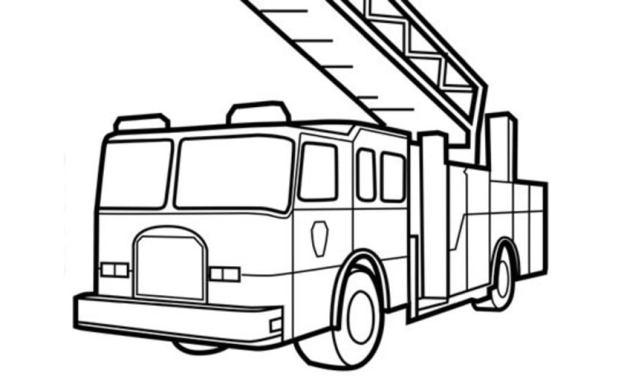 Ausmalbilder: Feuerwehrfahrzeug