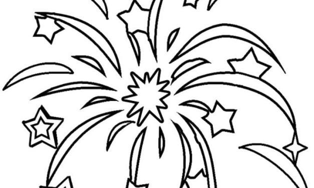 Disegni da colorare: Fuochi d'artificio