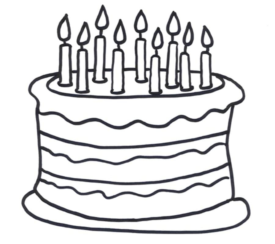 Coloring Pages Coloring Pages Birthday Cake Printable For Kids Adults Free To Download