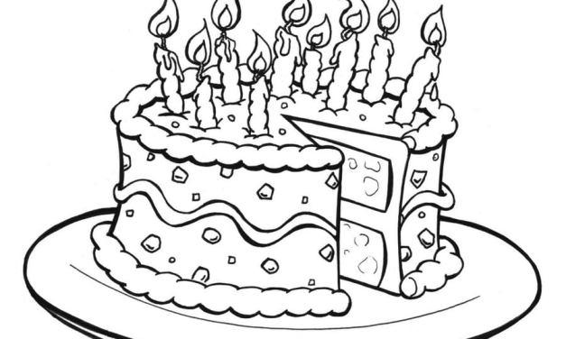 Ausmalbilder: Torte