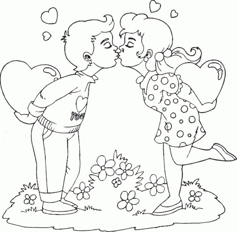 Coloring Pages Coloring Pages Kiss Printable For Kids