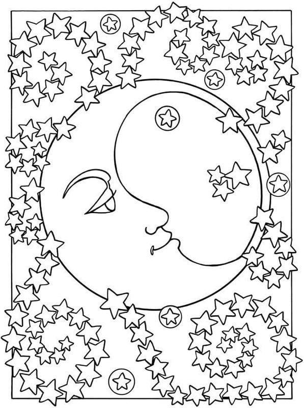 Coloriages Pour Adultes Lune Imprimable Gratuit Pdf Jpg