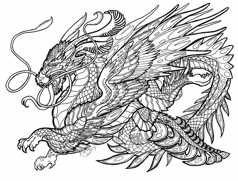ausmalbilder für erwachsene drachen zum ausdrucken kostenlos