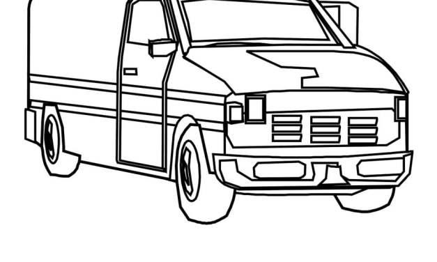 Coloring pages: Van