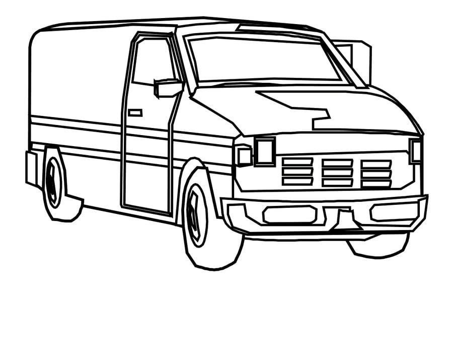 Coloring Pages Coloring Pages Van Printable For Kids