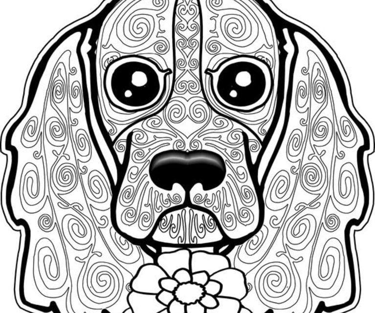 ausmalbilder für erwachsene hunde zum ausdrucken