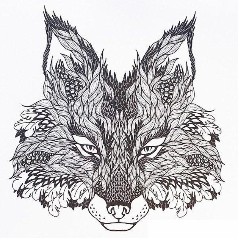 Ausmalbilder Für Erwachsene Wolf Zum Ausdrucken Kostenlos