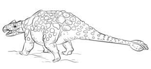 ankylosaurus zeichnen schritt für schritt tutorial für kinder