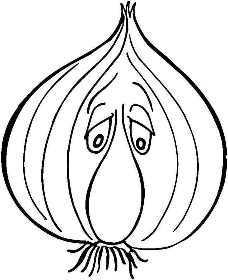 Ausmalbilder: Knoblauch Ausmalbilder Gemüse Pflanzen