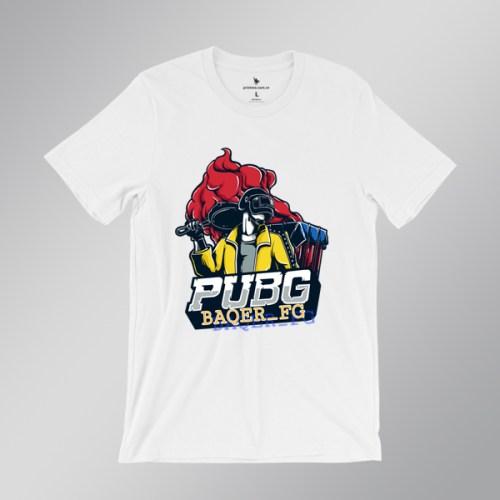 Áo game PUBG Baqer FG - áo trắng