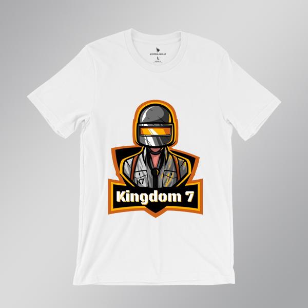 Áo game PUBG Kingdom 7 màu trắng - Printme