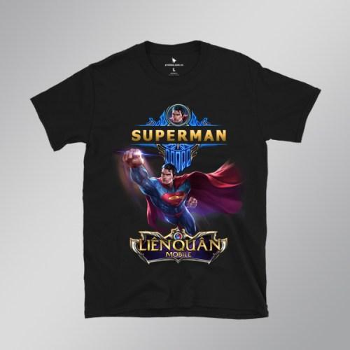 Áo Thun Superman - áo đen