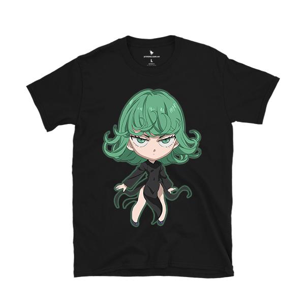 Áo thun anime Tatsumaki Chibi màu đen