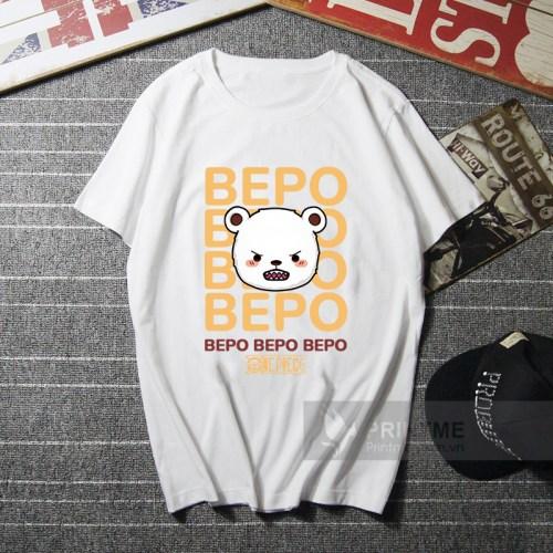 Áo Thun Bepo - One Piece - áo trắng