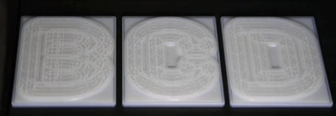 3D letterpress type