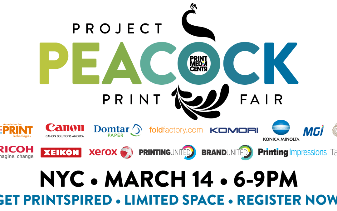 Project Peacock Print Fair; A One-Night Only Pop-Up Event for Print Customers and Printers
