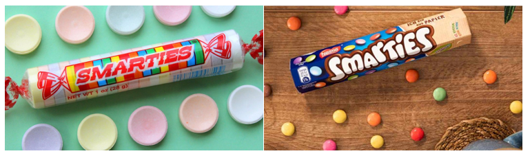 Smarties new paper packaging print media centr