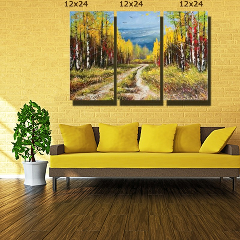 Lonely Pathway Canvas Wall Art