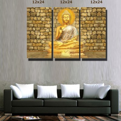 Bright Buddha Blessing Canvas Wall Art