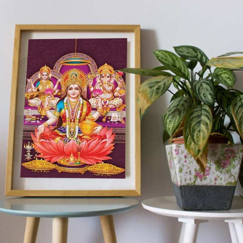 Laxmi, Ganesh & Saraswati Wall Art Painting Wall Art Painting