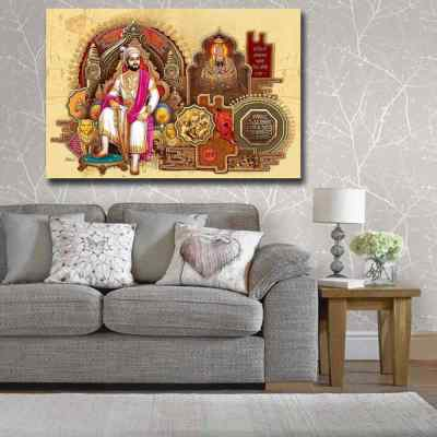 Shivaji Maharaj And Tuljabhavani Wall Art Painting