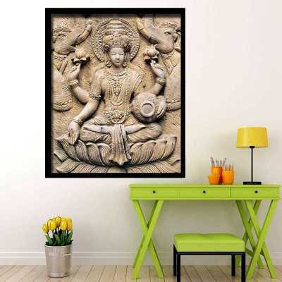 Lakshmi Puja Wall Art Painting