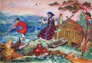 Картинки по Сказке о рыбаке и рыбке: распечатать или ...