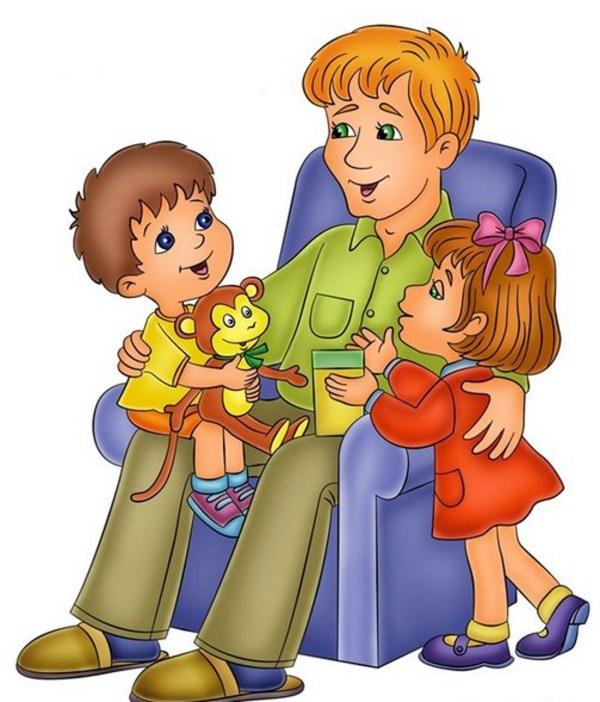Папа с детьми - картинка №13148 | Printonic.ru