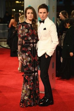 Hannah Bagshaw in Alexander McQueen. BAFTAs 2017 Best Dressed. Image source: Vogue Australia.