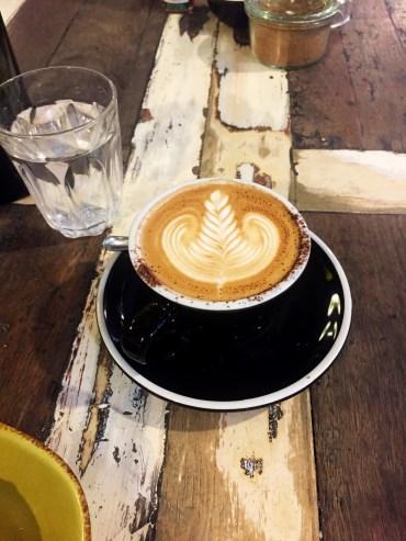 Latte art at Manchester Press Cafe, Melbourne. Print On Print 2017.