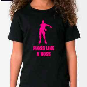 floss like a boss pink fortnite tshirt