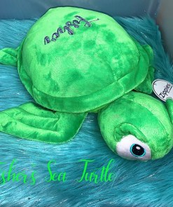 personalised cuddly toy embroidered turtle