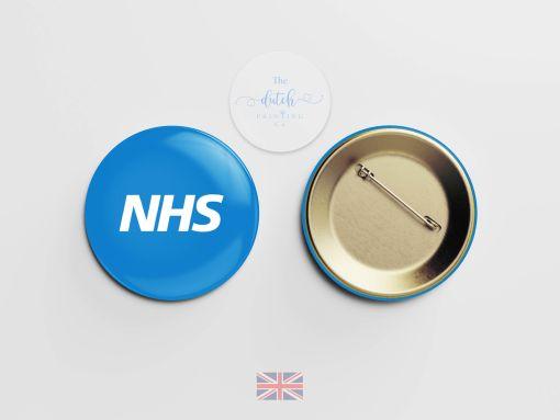 Blue NHS Badge (National Health Service Badge)