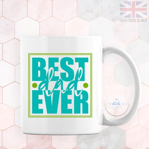 Personalised Photo Mug Best Dad Ever - Add YOUR OWN IMAGE - Personalised Fathers Day Gifts - Gifts for Him