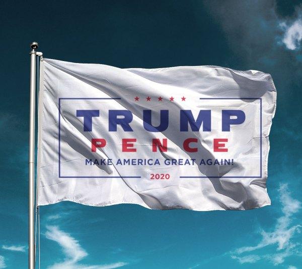 Classic White Trump Flag