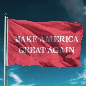 MAGA Red Trump Flag