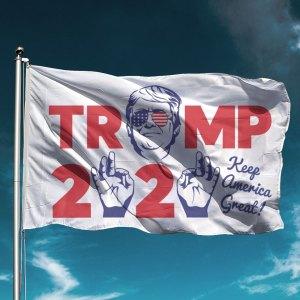 Trump 2020 Hands White Flag