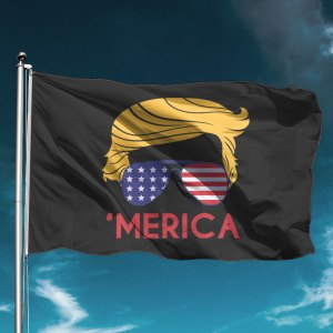 Trump 'Merica Shades Black Flag
