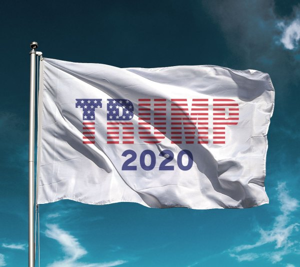 Trump Stars N' Stripes White Flag