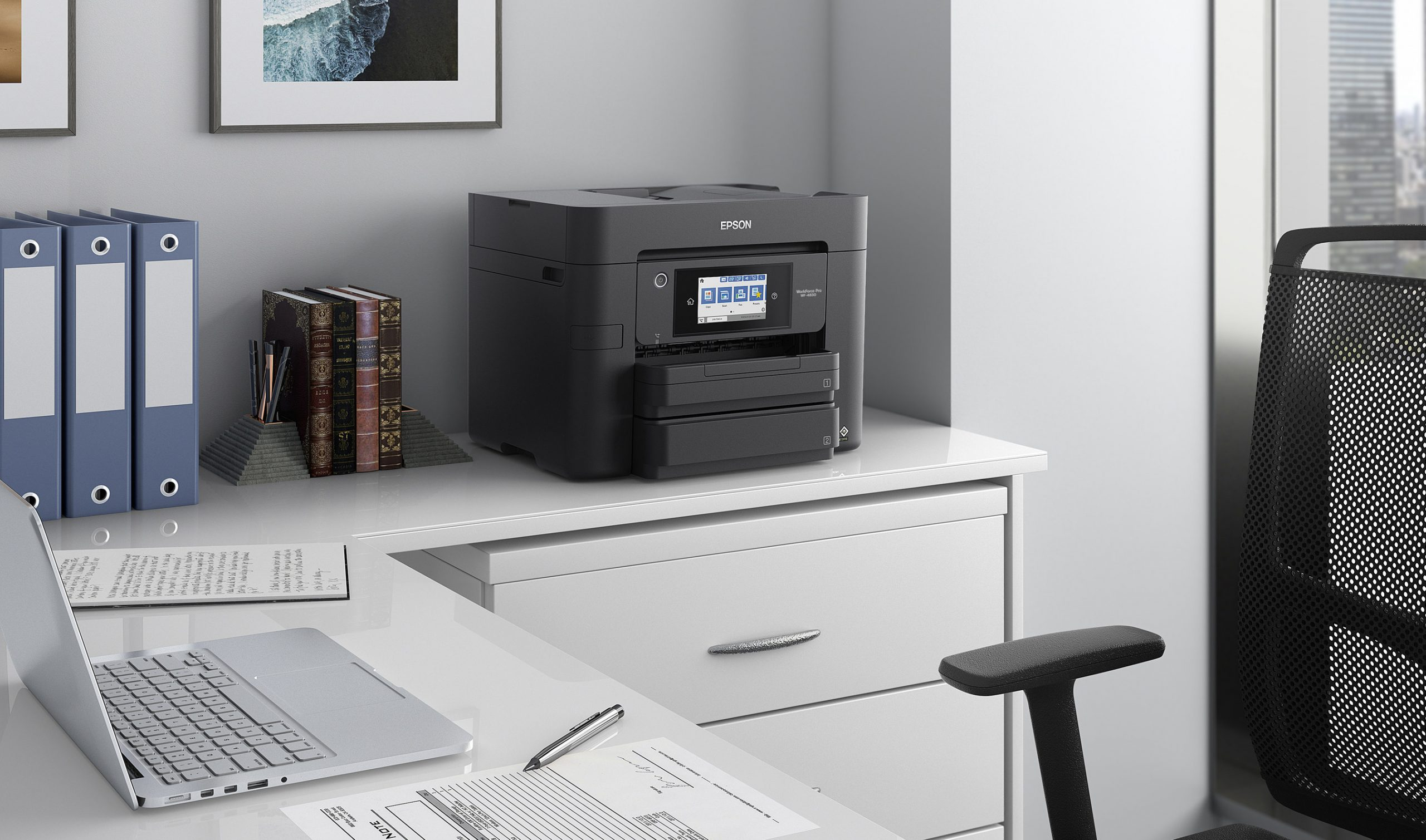 The new high-performance Epson WorkForce Pro lineup helps amplify efficiency and productivity in business, work from home and learn from home environments.