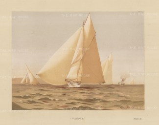 Yachts: Wendor, ancient name of the White Cart River. 125 ton Yawl designed by George Watson in 1883.