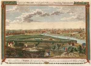 "Millar: Paris. 1782. A hand coloured original antique copper engraving. 11"" x 8"". [FRp1212]"