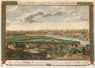 "Millar: Paris. 1782. A hand coloured original antique copper engraving. 11"" x 8"". [FRp1212]"