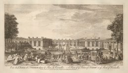 "Sayer: Versailles. 1774. An original antique copper engraving. 18"" x 10"". [FRp1566]"