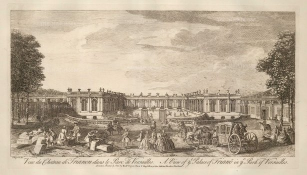 Versailles: View of the Grande Trianon chateaux.