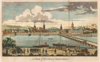 "Anonymous: Dresden. 1760. A hand coloured original antique copper engraving. 10"" x 6"". [GERp1131]"