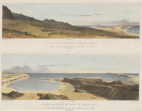 Ras Mohammed: Double panorama from the west, and from Cherm El Bir.