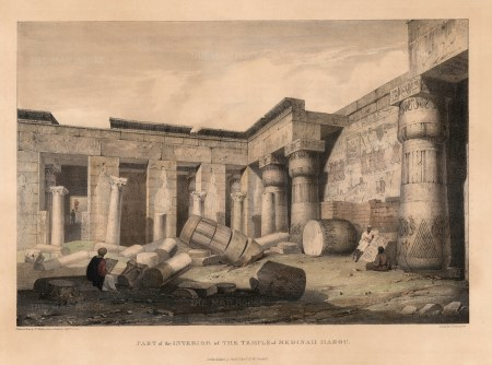Medinet Abou (Habu): Mortuary temple of Ramesses III. Interior of the ruins.