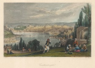Panoramic view along the Golden Horn (Halic).