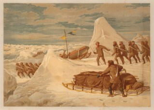 Crossing the ice with sledges: From the Expedition of HMS Alert 1875/77.